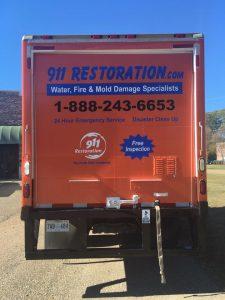Fire Damage Restoration Van